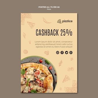 Design delizioso poster per pizza