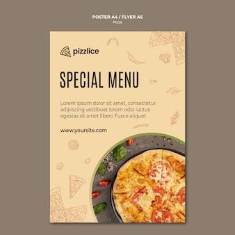 Design delizioso volantino per pizza