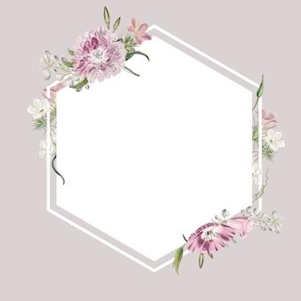 Design della cornice floreale