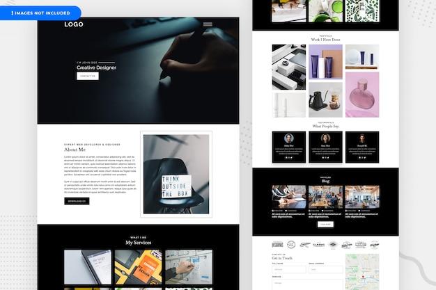 Design della pagina di destinazione per freelancer