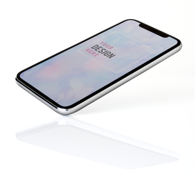 Design di mockup per smartphone a schermo intero
