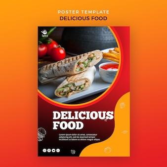 Design di poster di cibo delizioso