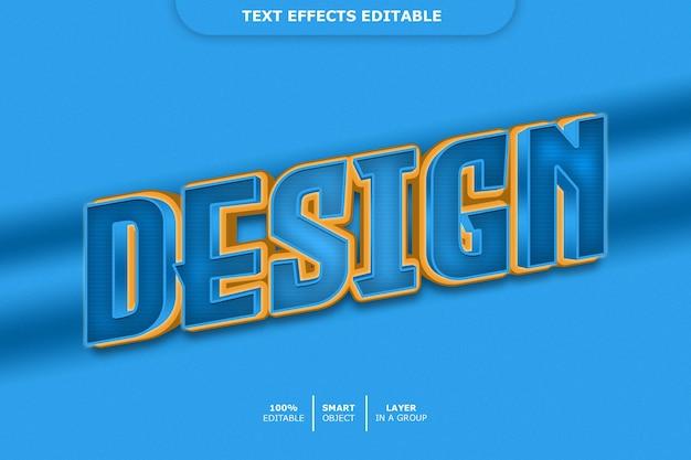 Design - effetto carattere modificabile