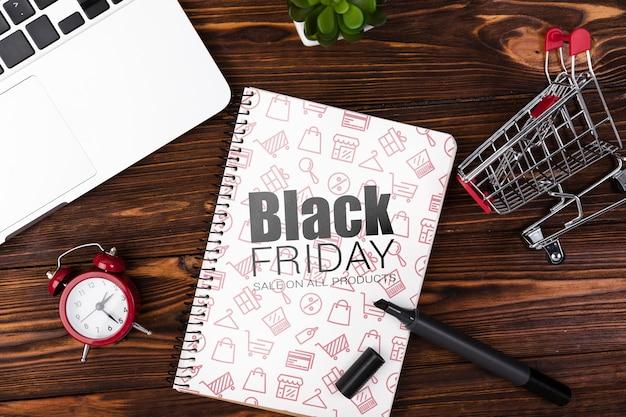Design mock-up di vendita venerdì nero