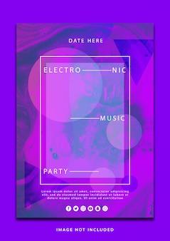 Design moderno di musica liquida flyer