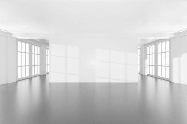 Design moderno vuoto elegante camera in colore bianco brillante