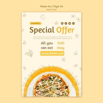 Design volantino alimentare italiano