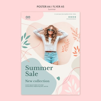 Design volantino collezione estiva