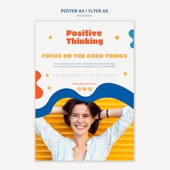 Design volantino concetto di positivismo