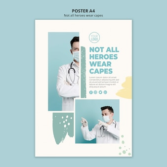 Design volantino professionale medico