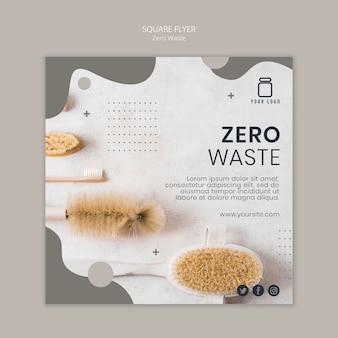 Design volantino quadrato a zero rifiuti
