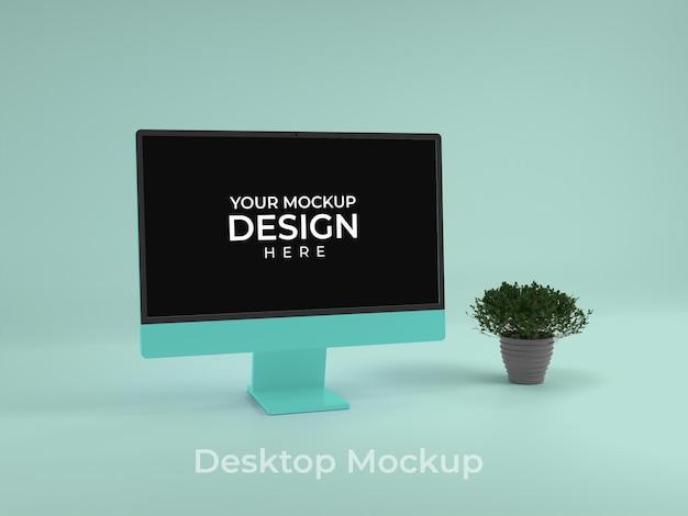 Desktop computer scherm mockup ontwerp psd