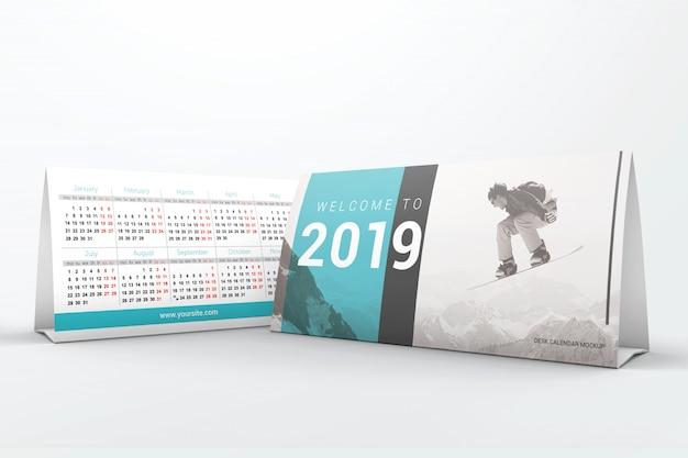 Desktop kalender-huis mockup