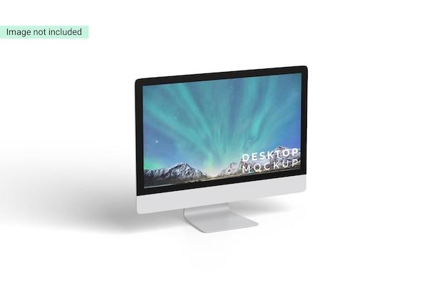 Desktop mockup ontwerp geïsoleerd
