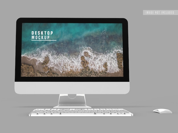 Desktop mockup ontwerpsjabloon
