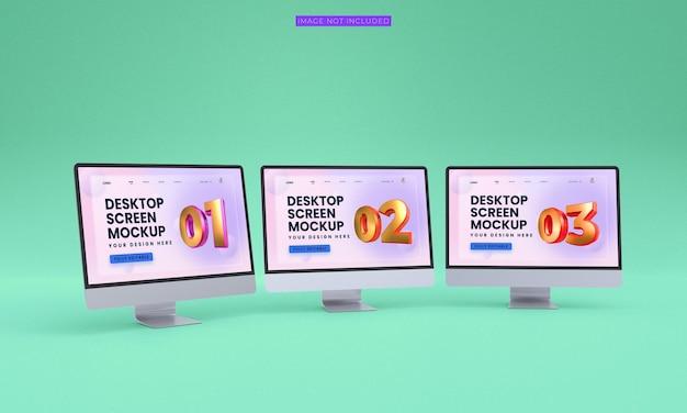 Desktopschermen mockup premium