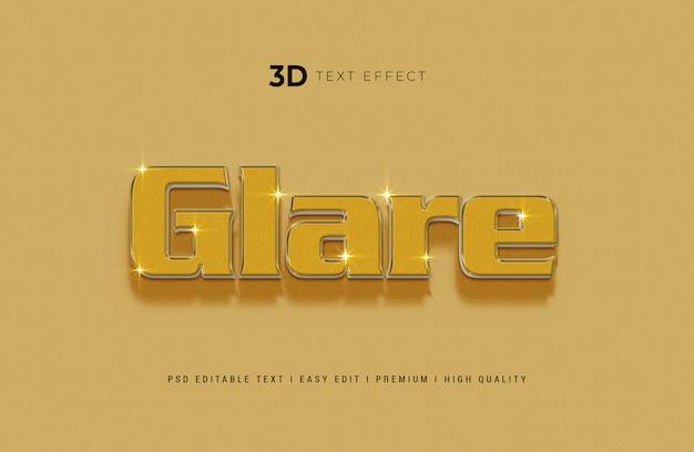 Deslumbramiento maqueta de efecto de estilo de texto 3d