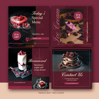 Dessert post banner collectie