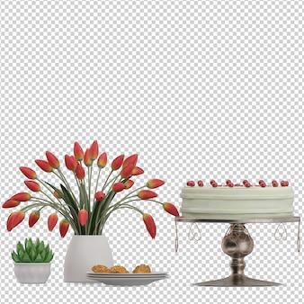 Dessert torta isometrica
