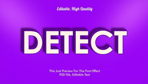Detectar efecto de fuente