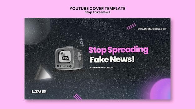 Detener la portada de youtube de noticias falsas