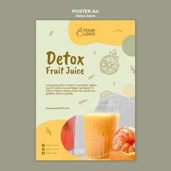 Detox sap concept poster sjabloon