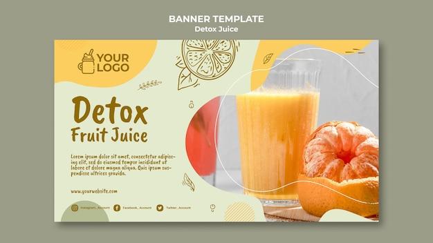 Detox sap concept sjabloon voor spandoek
