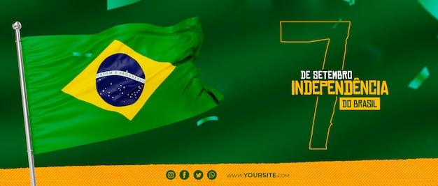 Dia da independencia do brazil post voor onafhankelijkheidsdag op sociale media