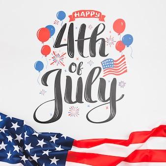 Día de la independencia en estados unidos de américa. 4 de julio