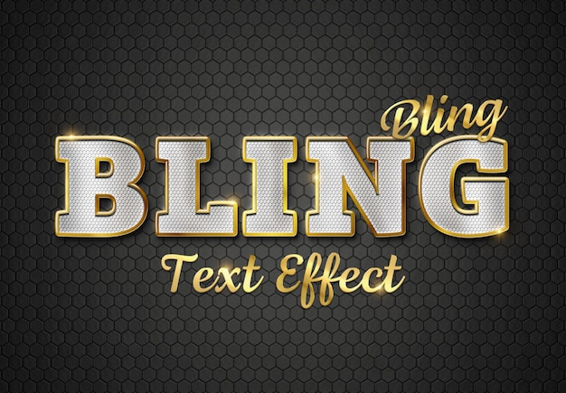 Diamanten en gouden teksteffect 3d mockup