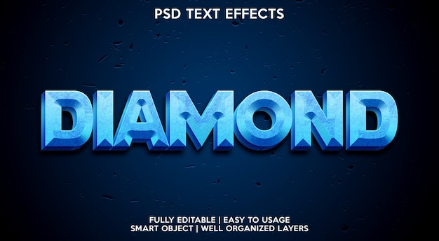 Diamond text effect-sjabloon