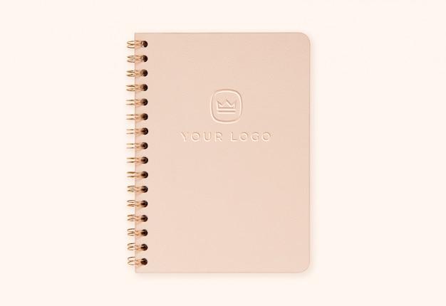 Diario copertina logo mockup effetto tipografica