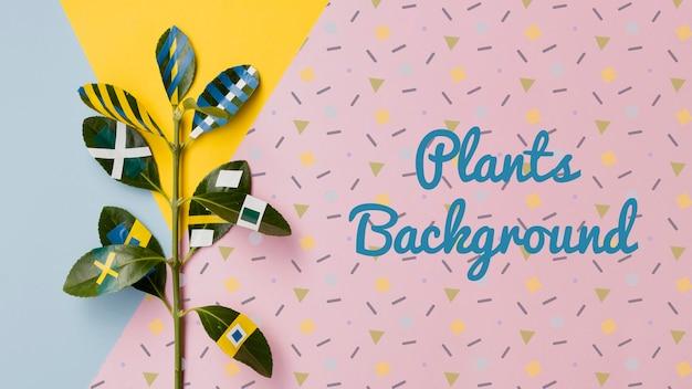 Dibujo artístico sobre maqueta de plantas