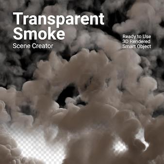 Dichte witte geïsoleerde rook