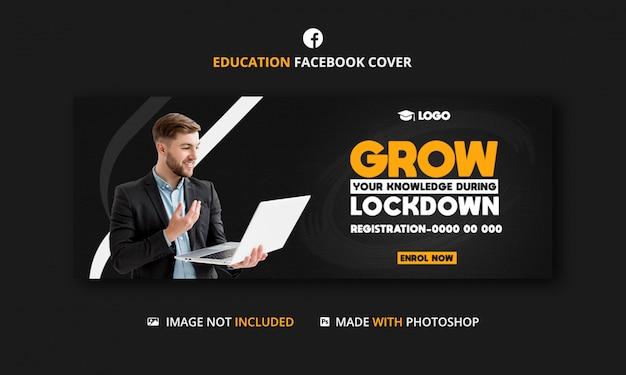 Digitaal bureau facebook tijdlijn voorbladsjabloon voor spandoek