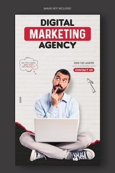 Digitaal marketingbureau en zakelijke promotie instagram-postbanner