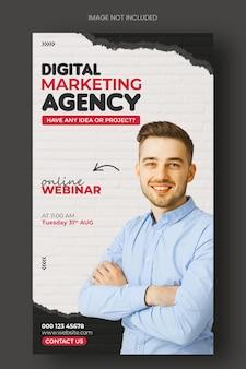 Digitaal marketingbureau en zakelijke promotie instagram-postsjabloon