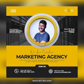 Digitaal marketingbureau en zakelijke social media post