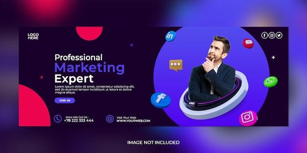 Digitaal marketingbureau en zakelijke social media postsjabloon