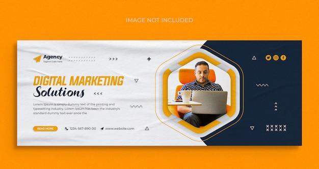 Digitaal marketingbureau sociale media instagram-webbanner of facebook-omslagsjabloon