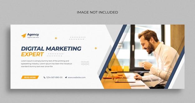 Digitaal marketingbureau sociale media instagram webbanner of vierkante flyer-sjabloon