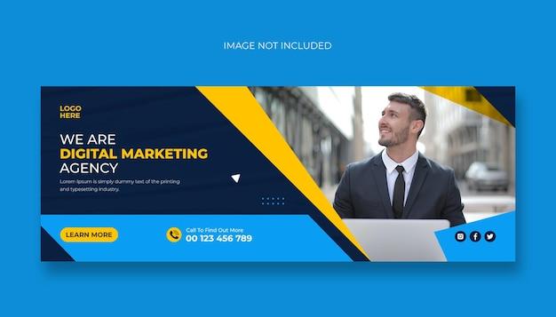 Digitaal marketingbureau voor facebook-omslag of webbannersjabloon