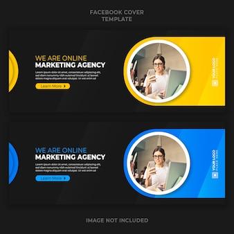 Digitaal online marketingbureau promotie facebook voorbladsjabloon voor spandoek