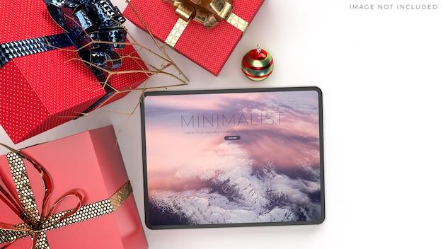 Digitaal tabletmodel voor wereldwijde merkidentiteit
