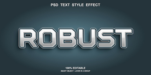 Digitaal teksteffect bewerkbaar