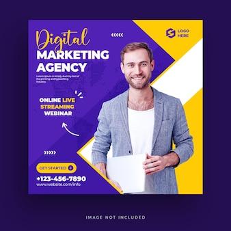 Digital business marketing social media instagram-bericht