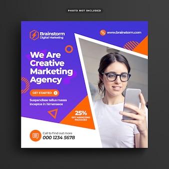 Digital business marketing social media post en webbanner