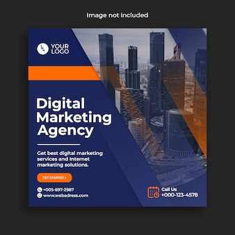 Digital marketing business instagram banner de redes sociales