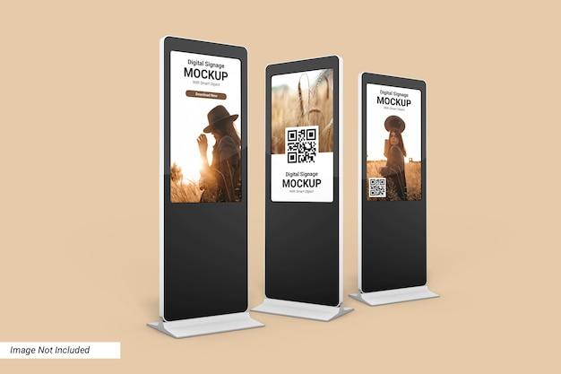 Digital signage mockup design geïsoleerd
