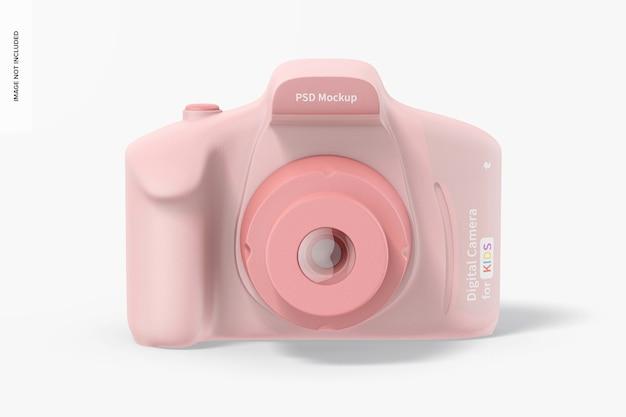 Digitale camera voor kinderen mockup, vooraanzicht